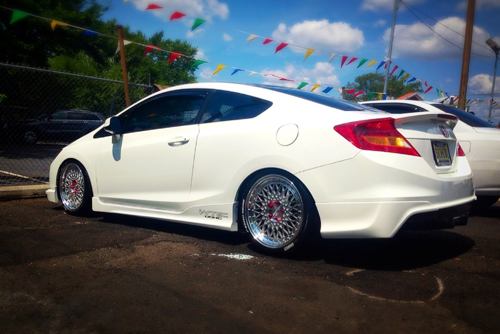 Honda Civic Si Coupe M220 Machine Silver Wheels 2