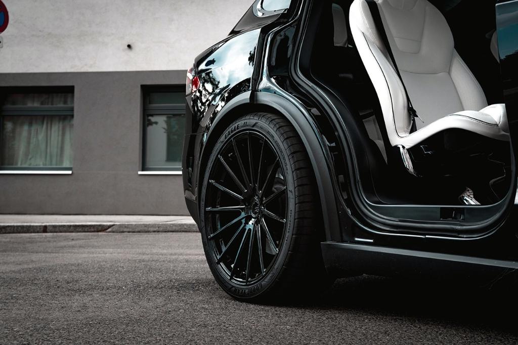 Tesla Mode X Avant Garde Wheels Ag M615 Matte Black 10