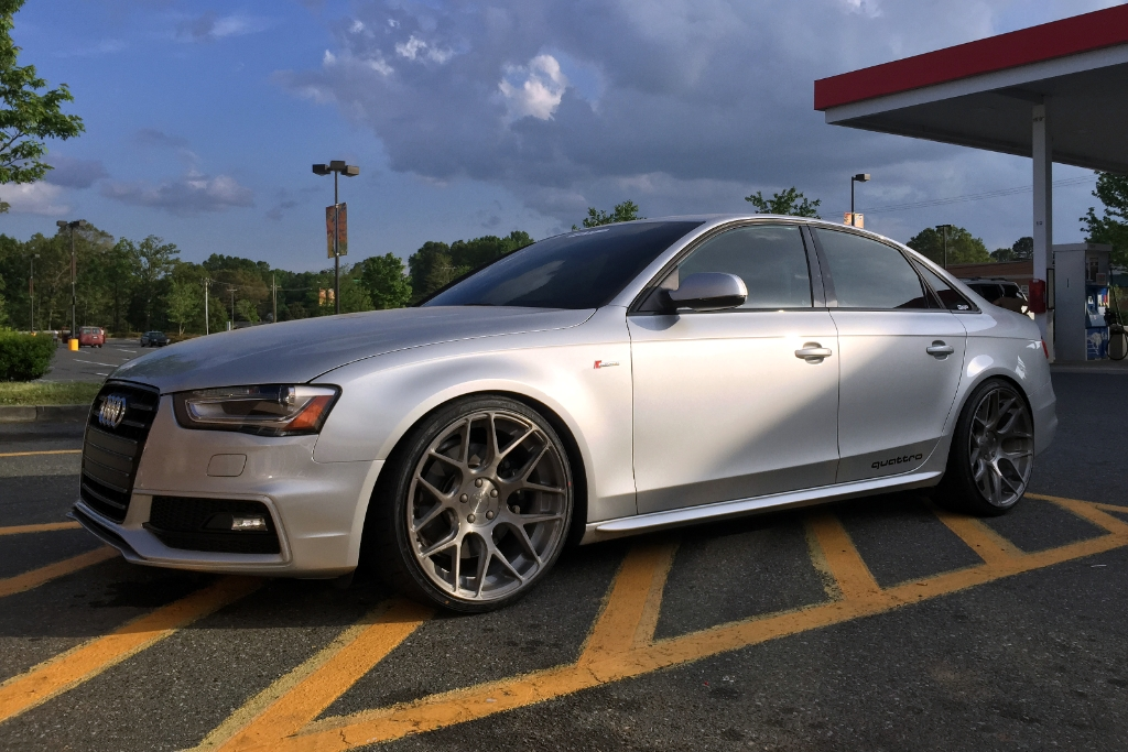 Audi B8 S4 Brushed Stainless M590 Mesh Concave Wheels