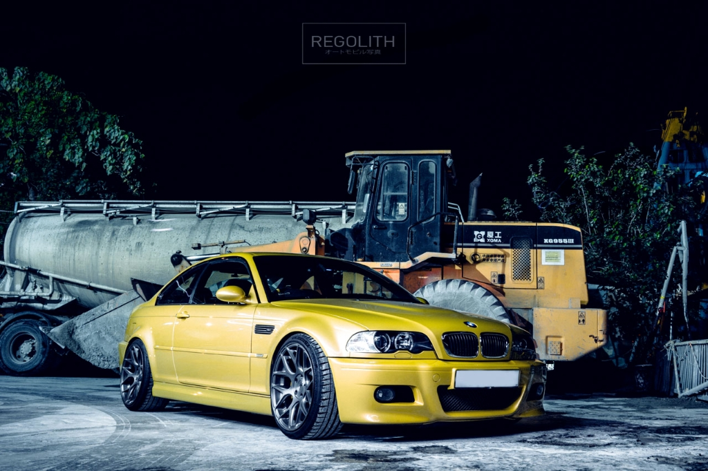 Bmw E46 M3 Phoenix Yellow Ag Agwheels M590 Brushed Black Nickel 4