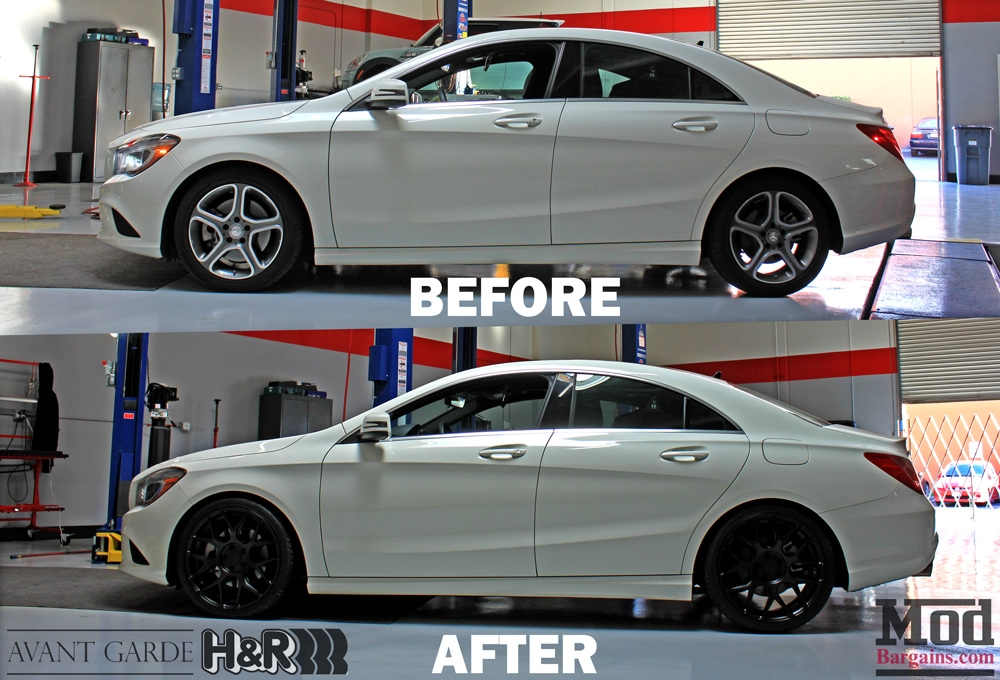 Mercedes Cla250 Hr Springs Avant Garde Black Wheels Before
