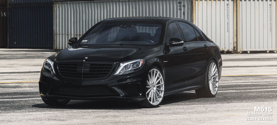 Mercedes S63 AMG staggered concave flow form rotary forged multie spoke wheels