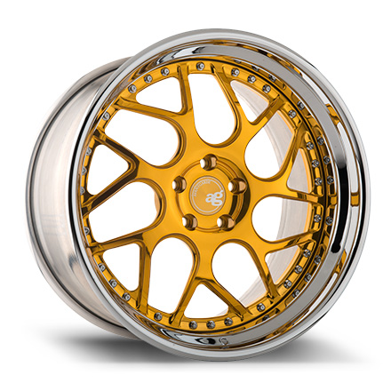 "18"" Gold Bullion with Chrome Lip"