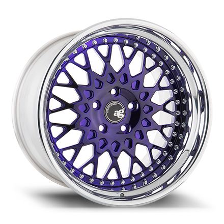 "19"" Prism Purple with Chrome Lip"