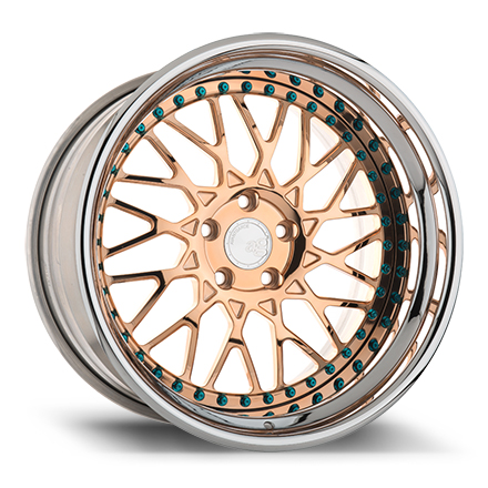 "19"" Polished Copper with Chrome Lip"