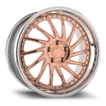 "Avant Garde F151 19"" Polished Copper with Chrome Lip"