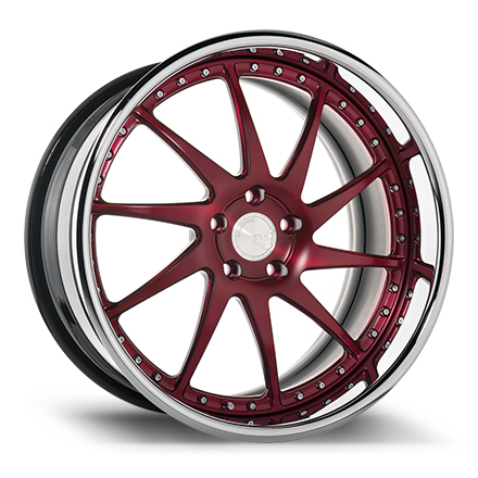"20"" Matte Brushed Black Cherry with Chrome Lip"