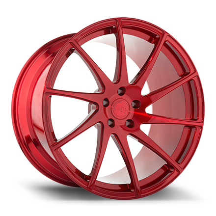 "Avant Garde F321 20"" Brushed Candy Apple Red"