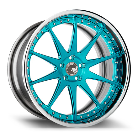 "Avant Garde F420 20"" Brushed Turquoise with Chrome Lip [SPEC1]"