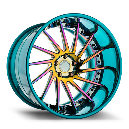 "20"" Neo Chrome with Mirror Turquoise Lip [SPEC2]"