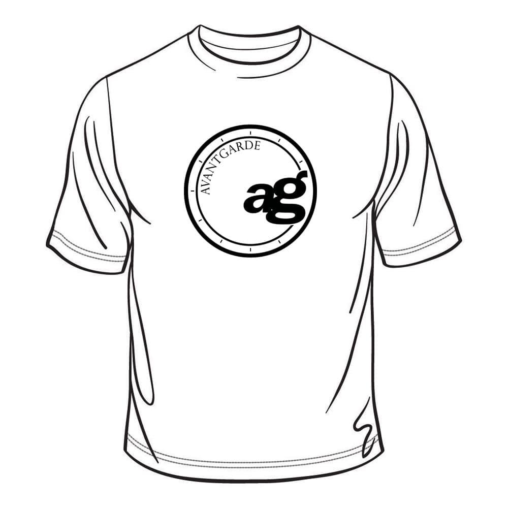 ag wheels avant garde wheel agwheels rim rims tshirt t-shirt shirt logo centercap black white cotton polyester 50/50