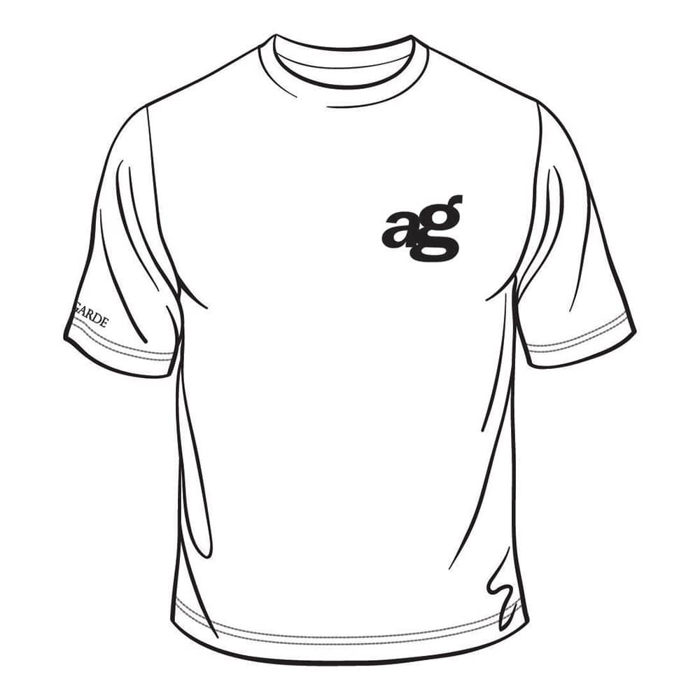 ag wheels avant garde wheel agwheels rim rims tshirt t-shirt shirt logo centercap black white cotton polyester 50/50 classic