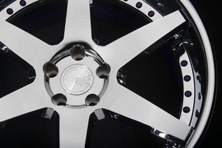 five spoke forged wheel rim full mirror chrome overlay brushed polished avant garde ag te37 volk