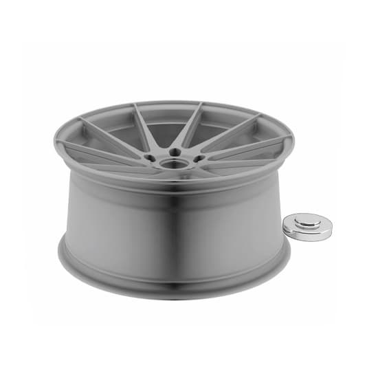 The molecular compound of the aluminum significantly hardens in a streamline direction resulting in a wheel with a higher impact tolerance and considerably lighter in weight.