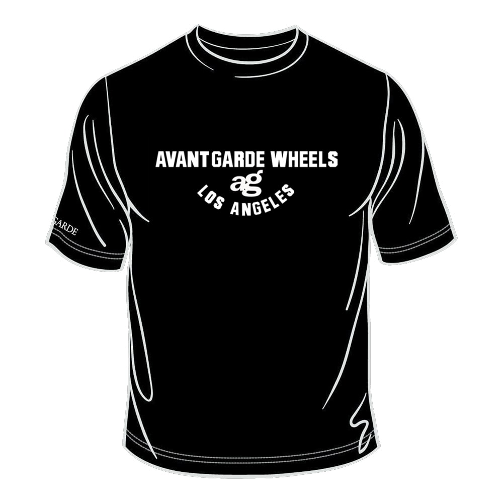 ag wheels avant garde wheel agwheels rim rims tshirt t-shirt shirt logo centercap black white cotton polyester 50/50 classic statement sport