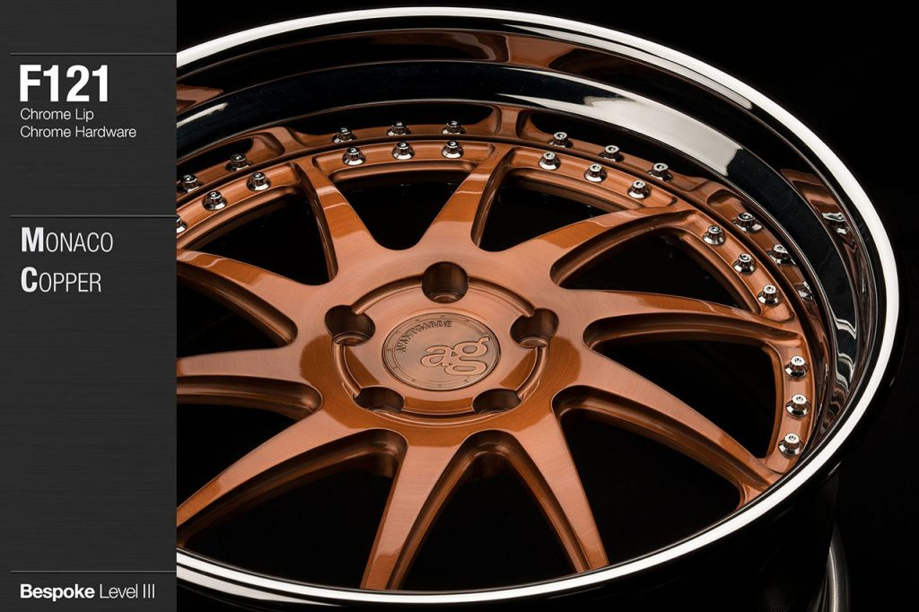avant-garde-ag-wheels-f121-brushed-monaco-copper-face-chrome-lip-hardware-2-min