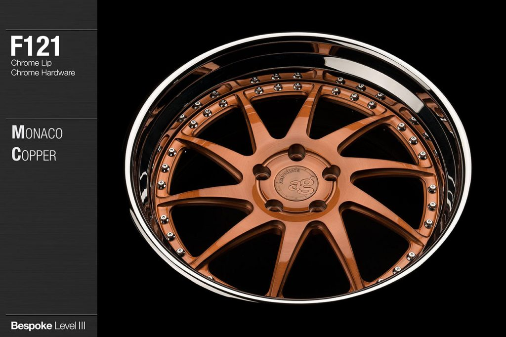 avant-garde-ag-wheels-f121-brushed-monaco-copper-face-chrome-lip-hardware-3-min