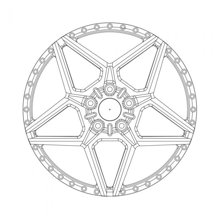 avant garde wheels agwheels rims custom concave forged three piece five spoke satan star f439