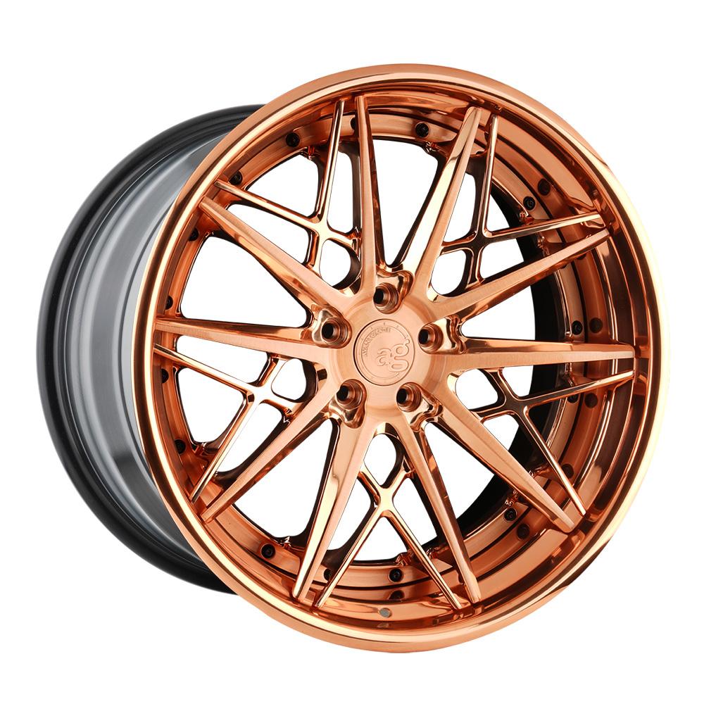 avant garde wheels agwheels f538 ag form & function forged concave custom banner brushed polished rose gold 20 inch 21 19 stance