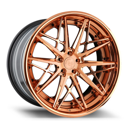 Avant Garde Wheels - F538 Brushed Polished Rose Gold - AG Form & Function Forged
