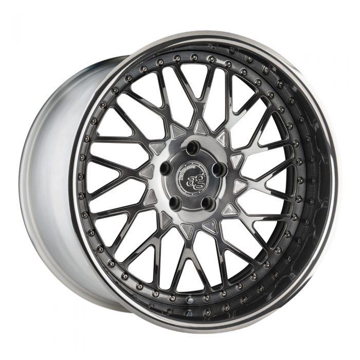 agwheels avant garde wheels ag f242 polished smoke mirror custom concave forged three piece bespoke rims stance bagged directional mesh