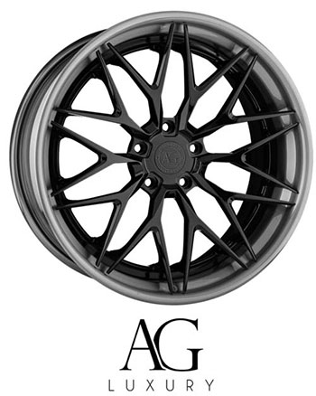 The AG Luxury collection is meticulously designed to complement high-end vehicle aesthetics and accentuate their commanding presence. Each order is individually engineered and assembled in-house utilizing aerospace-grade forged aluminum with American made components.